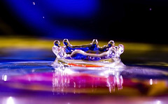 Water Drop..... Crown (-Randy-) Tags: reflection water colors drops nikon waterdrop refraction waterdrops liquid fallingwater splashing 55200mm flickrexplore explored nikond40 randywaterdropshots