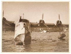 Qantas flying boat 'Coolangatta', Rose Bay, Sydney, 20 June 1936 / Sam Hood (State Library of New South Wales collection) Tags: bristol airplane deluxe aircraft aviation airline captain empire airways flyingboat qantas propeller engineer raaf seaplane perseus buoy airliners cclass royalaustralianairforce statelibraryofnewsouthwales coolangata qantasairways vhabb shortbrothers shortempireflyingboat empireflyingboat bristolperseus shortempire cclassflyingboat a1813 shorts23empire shorts23 s23empire shortcclass shortcclassflyingboat shortcclassempireflyingboat