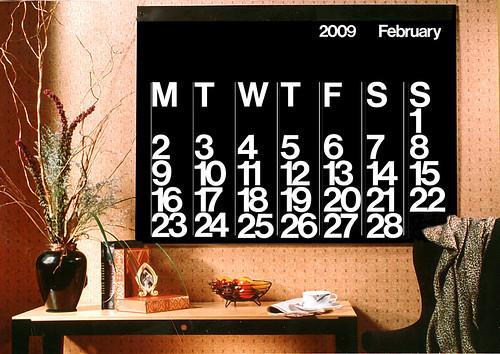 stendig wall calendar