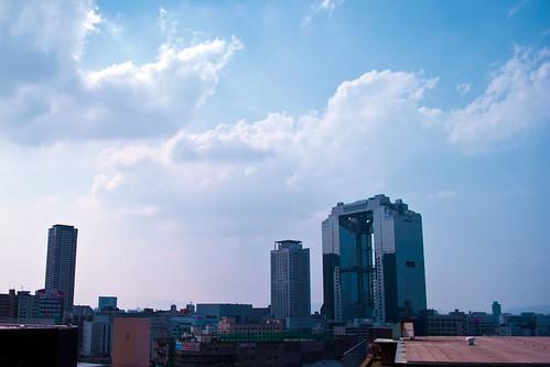 Umeda Sky Building from rooftop