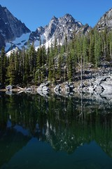 Colchuck Peak reflected in 'Warmchuck' Pond
