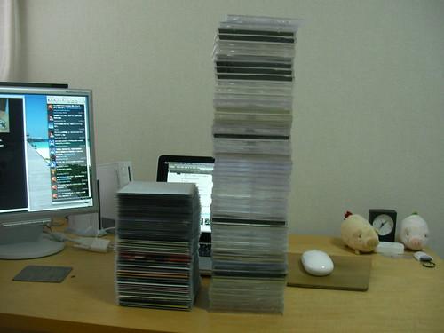 CDスリム収納ケースで半分以下に