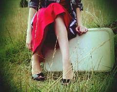 take me on your journey (Elena Bertolo) Tags: love grass sara dress journey suitcase