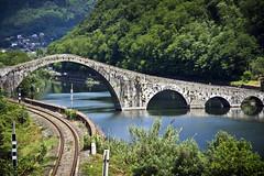 Devil's Bridge #3 (storvandre) Tags: bridge italy history geotagged medieval historic ponte tuscany devil toscana legend borgo garfagnana diavolo borgoamozzano mozzano storvandre atomicaward geo:lat=43985775 geo:lon=10552357