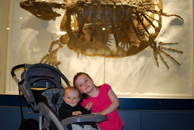 Siblings by the Giant Turtle