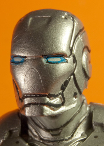 Close up of Iron Man Mark II