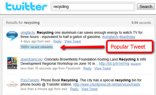 Recycling Popular Tweet