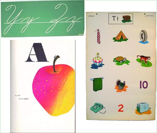 vintage alphabet posters