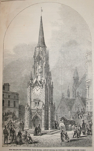 The Wellington Testimonial Clock Tower in Southwark