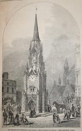 The Wellington Testimonial Clock Tower in Southwark