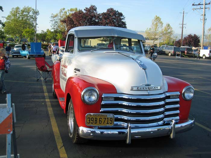Red and White Chevy
