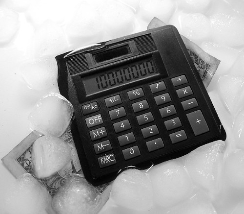 calculator a dollar and ice by Art By Steve Johnson.