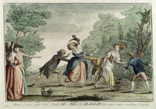 001-La gallinita ciega- Giuochi Trattenimenti e Feste Annue Che si Costumano in Toscana 1790- Giuseppe Piattoli