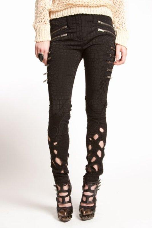 Rodarte SS2010 cutout zip jeans 1