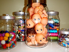 jar of baby heads