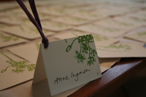 Gocco Wedding Placecards