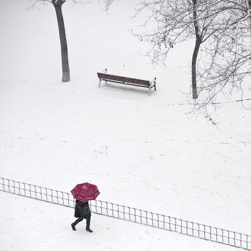 Snow in Madrid! by cuellar