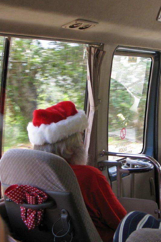 Tour Bus Santa