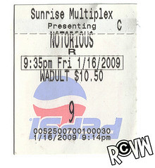 stub. (Ryan Christopher VanWilliams - NYC) Tags: newyorkcity b brooklyn sunrise movie logo williams bronx manhattan g january 9 ticket queens 09 2pac movies pepsi statenisland friday puffy ratedr 2009 stub tupac diddy 116 staten pac movieticket multiplex biggie 935 notorious pdiddy lilkim notoriousbig sugeknight faithevans 11609 i vanwilliams christopherwallace rvw ryanchristophervanwilliams rcvw sunrisemultiplex vinniesstyles