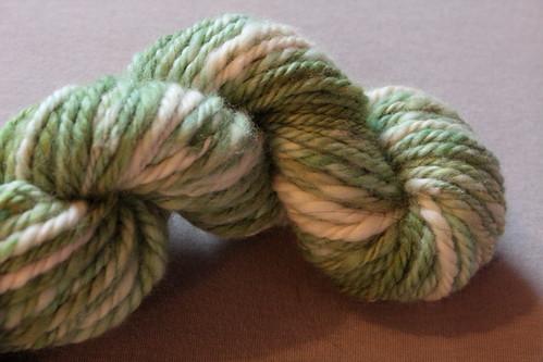 Hand-dyed, hand-spun BFL