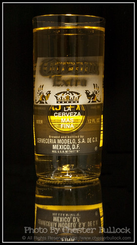 Corona Drinking Glass from recycled bottle - After slight retouching (by Chester Bullock)