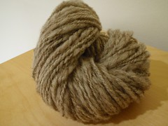 first handspun yarn