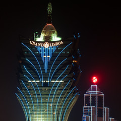 GRAND LISBOA (whc7294) Tags: china hotel casino nightscene macau macao  2470mmf28 grandlisboa   lunarvillage colourartaward platinumheartaward nikond300