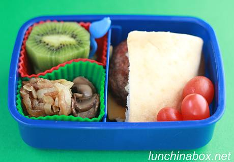 Mini burger bento lunch for preschooler