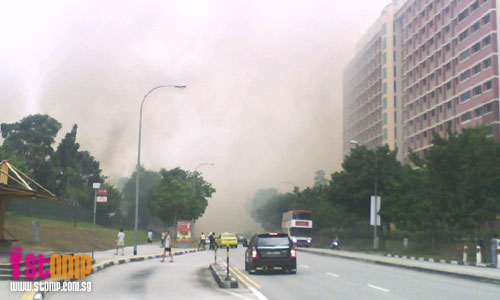 Tampines bush fire so huge, it can be seen from Eunos