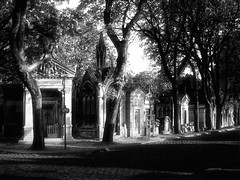Pere Lechaise Cemetary Paris. (JohnBrody.com) Tags: city nyc blackandwhite paris building church monument architecture clouds skyscraper canon buildings landscape eos doors cityscape cloudy cemetary historical chopin brody jimmorrison markii copyrighted perelechaise delecroix allimagescopyrighted johnbrodyphotography johnbrody johnbrodycom