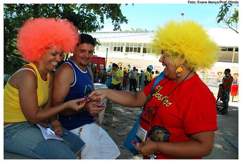 7.200 preservativos serão distribuídos no desfile das Virgens do Bairro Novo. Foto: Evane Manço/Pref.Olinda