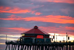 rubys and colored clouds (jst images) Tags: sunset beach water sand waves oc huntingtonbeach rubys hb