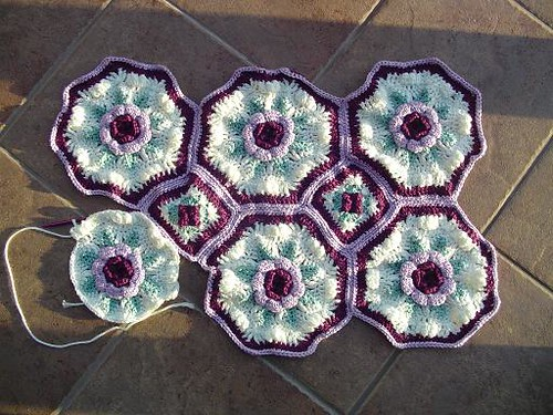 purple rose afghan
