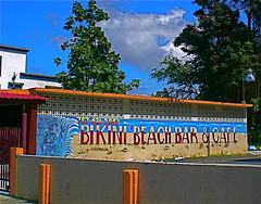 Bikini Beach (madabandon) Tags: sky signs clouds words puertorico bikini caribbean walls bikinibeach