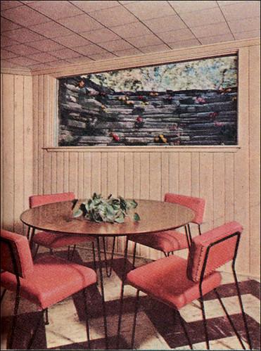 1954 Basement Dining Room