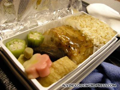 Rachels Japanese plane meal