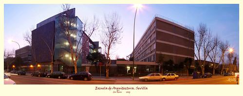 Sevilla city night lights luces de la ciudad nocturna flickr - Escuela tecnica superior de arquitectura sevilla ...