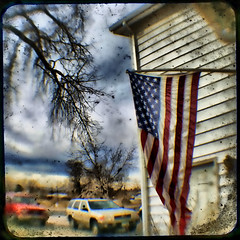 old glory ttv test1 (bob merco) Tags: texture photoshop vintage flag manipulation dirty retro lizard photomontage hdr duaflex viewfinder lonesome ttv throughtheviewfinder bobmerco topazadjust lonesomelizardfilms bobmercogliano