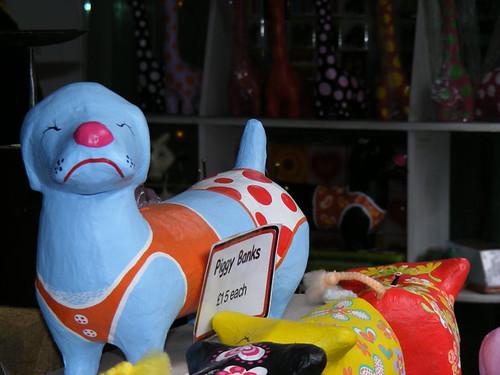 Funky Dog Bikini Piggy Bank. Wouldn't you trust a dog in a bikini to hold .
