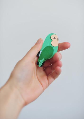Lovebird Brooch