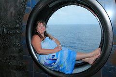Porthole Posing IMG_0917 (SunCat) Tags: travel cruise carnival vacation woman clothing friend girlfriend all bare bbw spouse porthole wife caribbean debbie sweetheart lover mate companion legend 2009 sarong soulmate optional pareo necessities bluedress braless clothingoptional barenecessities confidante so