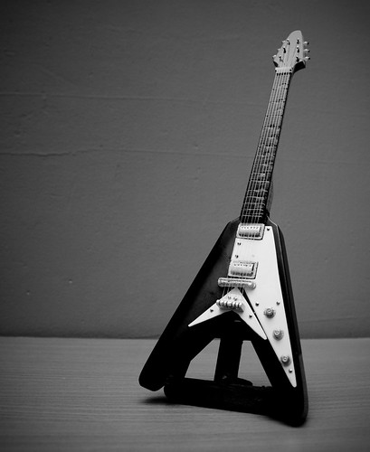 Guitar model in B&W