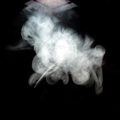 Ghostly Smoke (Chrixcel) Tags: building factory decay smoke urbanexploration distillery usine fantme wasteland manufacture urbex velux abandonn fume abandonedplace lucarne abandonne fricheindustrielle desaffect