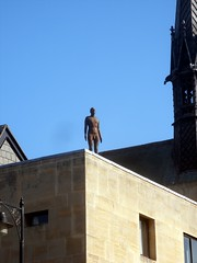 Man on roof