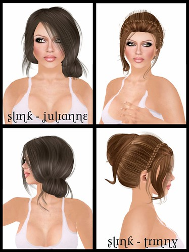 Julianne -She is a gorgeous side bun style with wisps of hair here and wisps