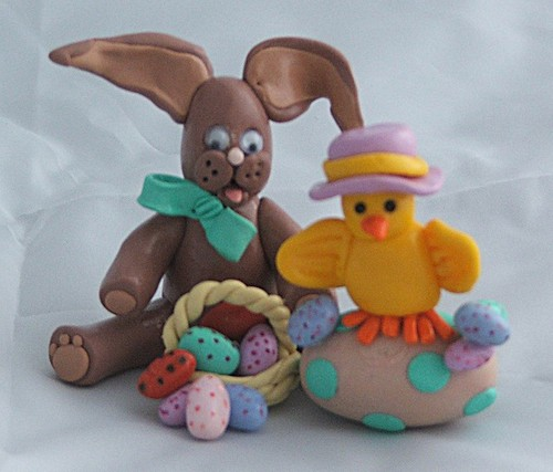 cute easter bunnies and chicks. Easter Bunny and Chick Friend