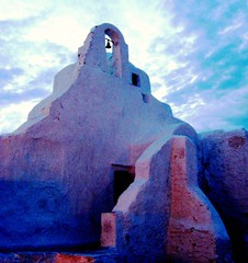 Greek Church Ruins, Mykonos, Greece, Cyclades Islands (moonjazz) Tags: cruise sunset vacation sky tower history church architecture island greek town ruins worship mediterranean bell religion aegean icon tourist orthodox cyclades mykonos stucco monastary mywinners greech