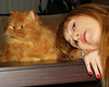 E.L.A-Our Photo Together (E.L.A) Tags: family friends people pet pets selfportrait cute love home animal turkey fur photography persian kitten feline kittens indoors domesticanimals garfield ankara domesticcat womanandcat bestcatphotos fluffyorangecat differentcatbreeds familygetty2010
