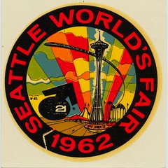 1962 Seattle World's Fair Decal (The Cardboard America Archives) Tags: seattle vintage spaceneedle decal monorail worldsfair century21
