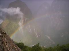 machu picchu queda al final del arcoiris